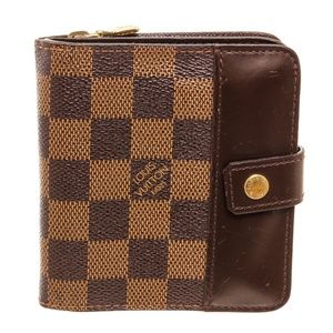Louis Vuitton Ebene Leather Zippe Compact Wallet